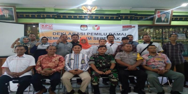 Deklarasi Damai Pemilu 2019 di Kecamatan Ngampilan