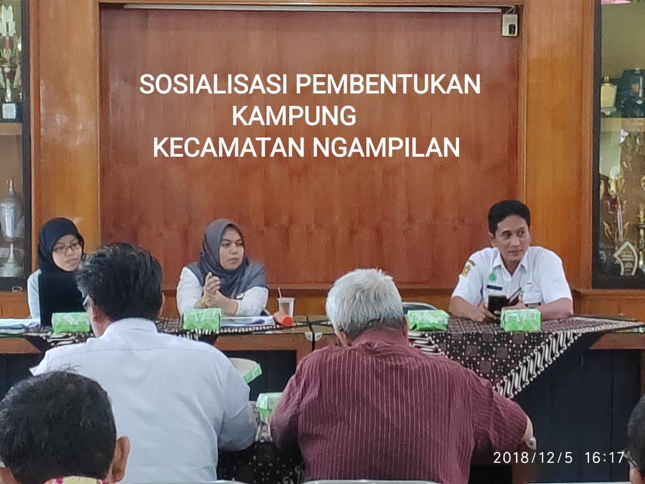 Sosialisai Pembentukan Kampung Kecamatan Ngampilan