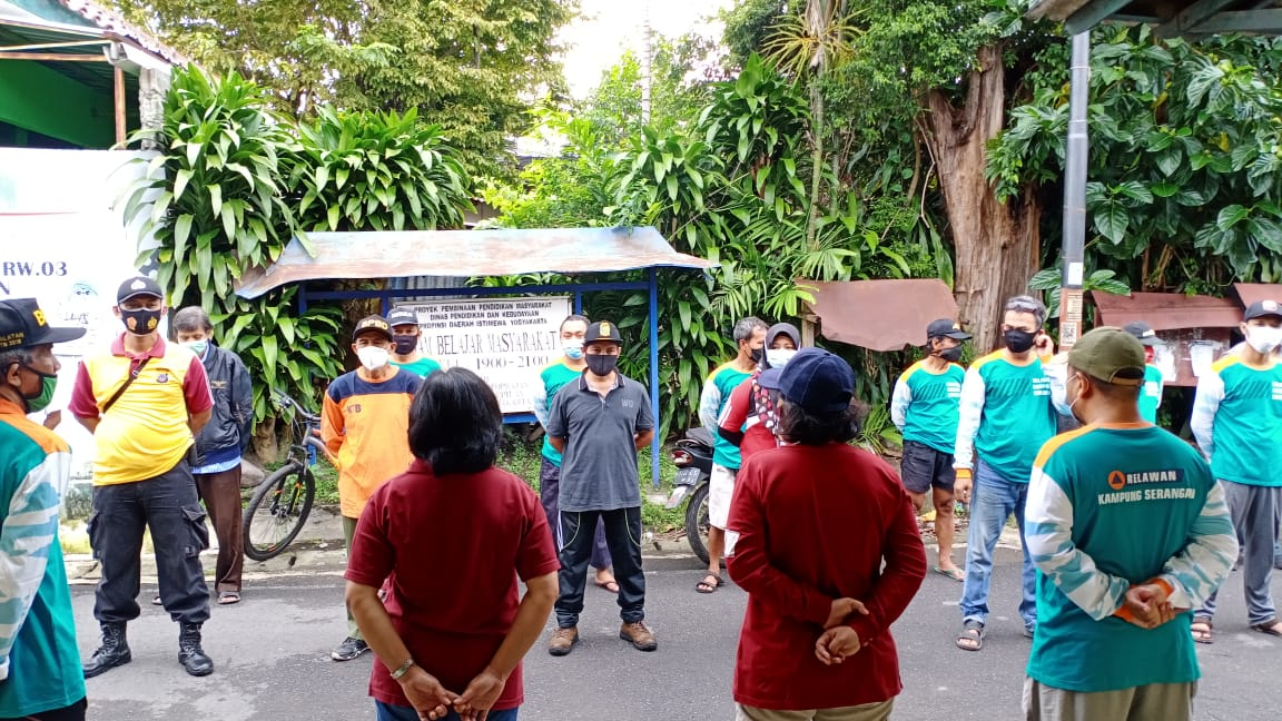 Apel Siaga Penyemprotan Disinfektan Kampung Serangan (7/03/2021)